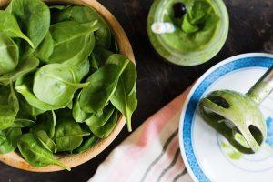 Natürlicher Appetitzügler Spinat