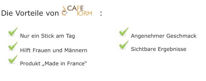 Cafeform-Vorteile