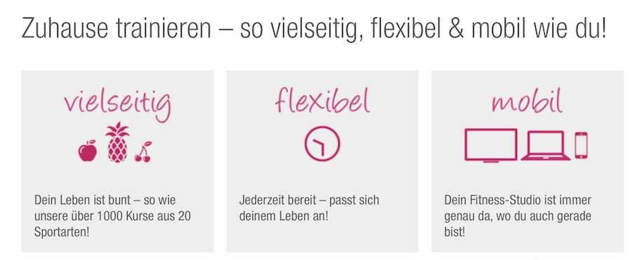 Viele Vorteile bei Fitnessraum.de