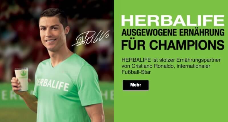 Herbalife Werbung