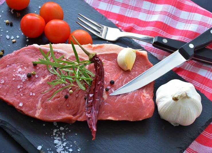 Viel Fleisch für Blutgruppe 0
