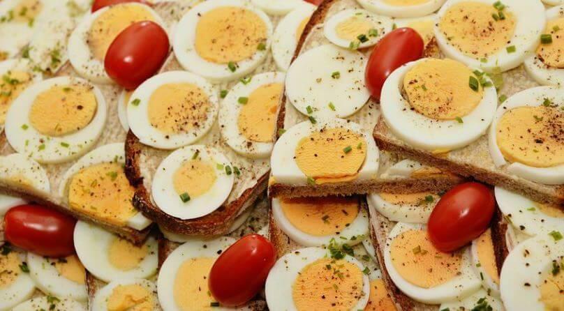 Brot bei der Eier Diät