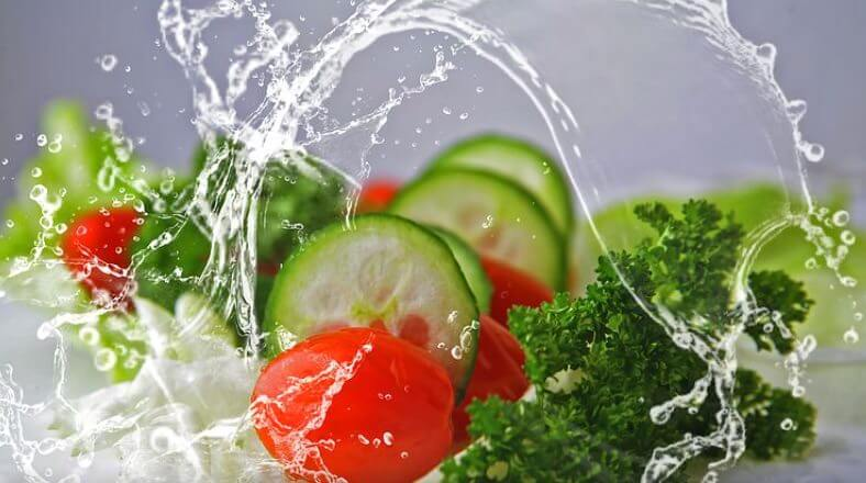 Viel Gemüse bei der Leber Diät