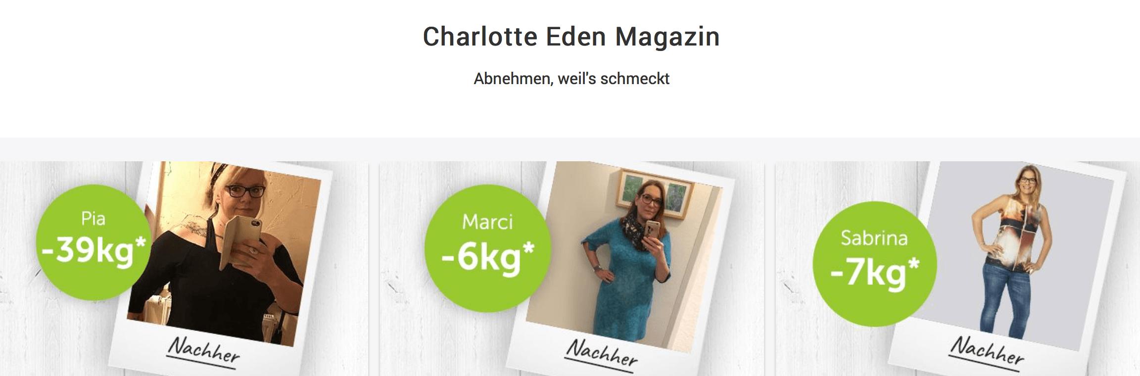 Weniger Gewicht dank Charlotte Eden